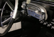 Steering column is a shorter unit from a '64 Falcon, makes for more comfortable seating position in the earlier cars.