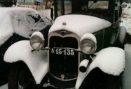 ... and I was still calculating on the hydraulic conversion for the brakes. So Ole-Henry was left in the snow.