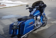 The street glide dash and seat were installed to lower the seat height.