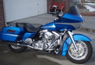 Road Glide with lowered front and rear