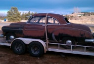 Just pulled the 1950 chevy out of a field in SD