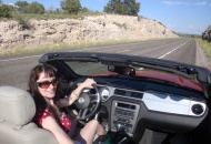 Cruisin' on US/AZ Route 66 in the rented Mustang convertible.