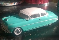 I painted it light aqua and white. If I had to enter any one of my 86 model cars into a contest, this 1952 Hudson Hornet model would be my first choice.