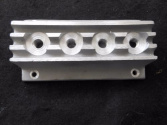hot rod Nolstalia finned 4x2 fuel block  for 4 carb set up brand new  40.00 free shipping
