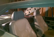 10mway power/heated leather buckets, 67 Sport Fury back seat topper as header for roadster panels to the rear shelf.